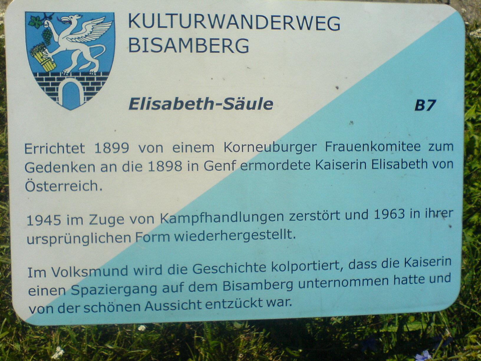 kaiserin Elisabeth Höhe Bisamberg