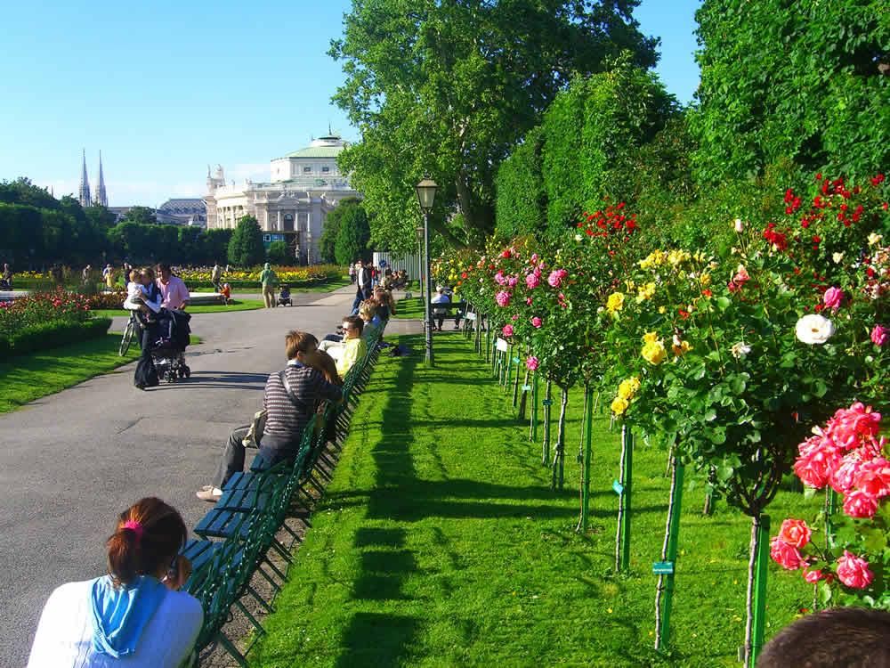 Der Volksgarten Wien Ist Eine Parkanlage Zwischen Heldenplatz Und