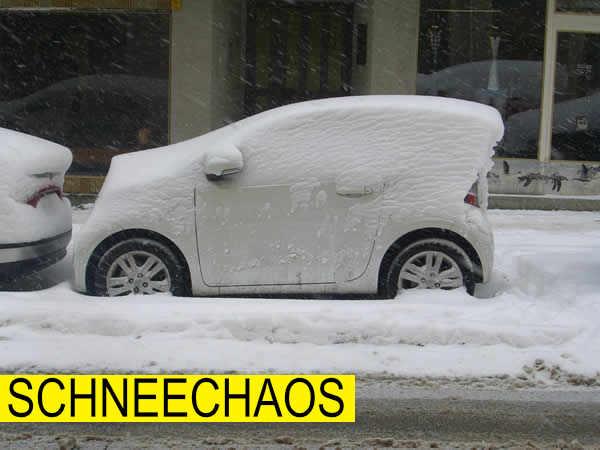 Schneechaos Wien